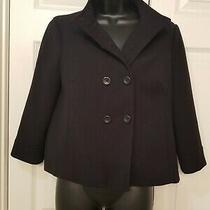 Banana Republic Women's Size 4 Double Breasted Black Jacket. Photo