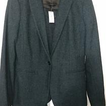 Banana Republic Wool Blend 2 Piece Pant Suit Nwt Size 8 Teal Photo