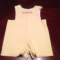 Banana Split Yellow Shortall Emborded With the Name Campbell Size 18 Months  Photo