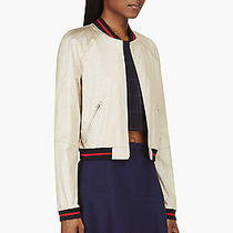 Band of Outsiders Baseball Jacket Gold Boy by Girl Anthropologie Coat Bomber Top Photo