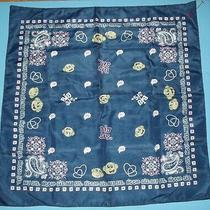 Bandana Scarf Big Sister Little Sister Blue W Hearts Flowers Happy Faces 20