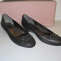 Bandolino 11 M New Womens Malita Dark Sliver Leather Wedge Heels Shoes Nwob Photo