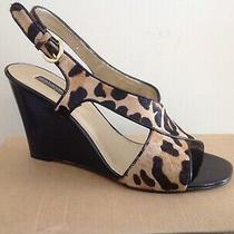 Bandolino Animal Print Wedge Sandals Size 9 M (New) Photo