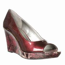 Bandolino Auburn Peep-Toe Pump - Wine  6.5 Photo