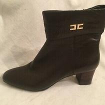 Bandolino Bddajuda Dark Brown Zip Ankle Boots Womens Size 8.5 M Photo