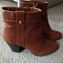 Bandolino Bdeleodora Leather Ankle Boots Booties in Chestnut Brown Size 9.5 M Photo