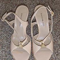 Bandolino Beige Platform Wedge Sandals Size 6.5 (3373) Photo