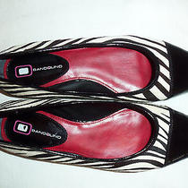 Bandolino Black and White Zebra Print Flats Very Sharp Size 6.5 M Photo