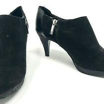 Bandolino Black Fabric Platform Ankle Boots Booties Heels Shoes Size 6.5 M Photo
