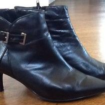 Bandolino Black Leather Short Boots Photo