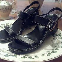 Bandolino Black Shoes  Strappy Sandals 8m  Gently Worn Photo