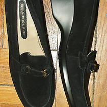 Bandolino Black Suade Wedge  Loafer sz8.5m Photo