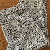 Bandolino Blu Black/white Printstretch Cotton Jean Capris  Size 12 Photo