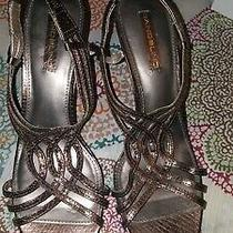 Bandolino Bronze Sandal Sz 8.5m Preowned  Photo