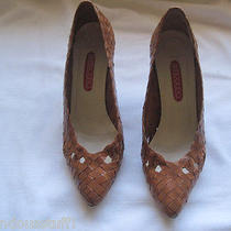 Bandolino Brown Basket Weave High Heel Shoes Size 7.5 Aa Photo