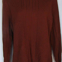 Bandolino Burgundy Russet Mock T-Neck Pullover Sweater Sz Xl Macy's Rayon Blend  Photo