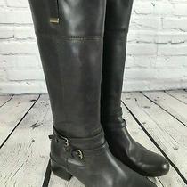 Bandolino Carlotta Espresso Brown Leather Riding Boots Women's Size 9 M Photo