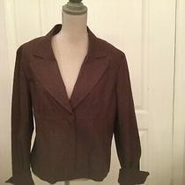 Bandolino Cotton Brown Jacket/blazer Size 16 Front Zipper  Photo