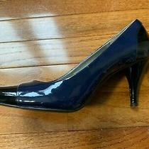 Bandolino Cunning Navy Blue & Black Leather Pumps Heels 8.5m Photo