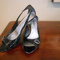 Bandolino Cute Black Patent Leather Heels.  Womens 10m Cute Accents Photo