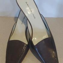 Bandolino Dark Brown Leather Jadee Slide Mule Loafer Heel Women's Size 9.5 M Photo