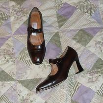 Bandolino Dark Mahogany Leather Heels - 7m Ln Photo