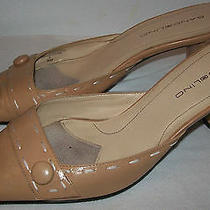 Bandolino Designer Beige Pumps Slides Shoes 8m Leather Uppers - 2.75