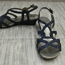 Bandolino Galtelli Wedge Rhinestone Sandals - Women's Size 7.5 M Blue Photo
