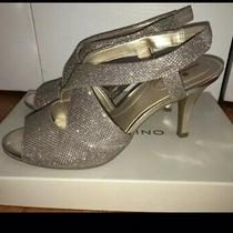 Bandolino Gold Glitter Pumps 7 1/2 Prom Homecoming Wedding Special Occasion Photo