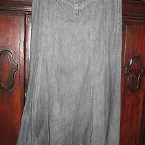 Bandolino Gray Jean Long Knit Skirt 6 Modest No Slit School Church B2s Bts Fall Photo
