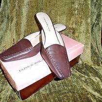 Bandolino Jadee Womens Brown Leather Mules Square Toe 2 1/4
