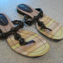 Bandolino Ladies Brown Chain Thong Sandal Size 6 M Photo