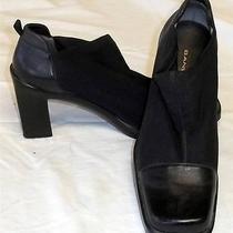Bandolino Lamonica 5.5 Medium B Black Fabric Leather High 3 1/4