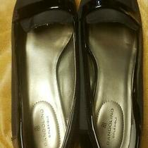 Bandolino Latera Wedge Loafer Women's Size 8.5 Black Patent Leather Accents Photo