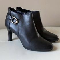Bandolino Layita Leather Ankle Bootie - Women's Size 8.5 M Black - New Photo