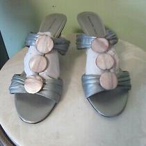 Bandolino Leather Silver Sandals - Size 8- Free Shipping Photo