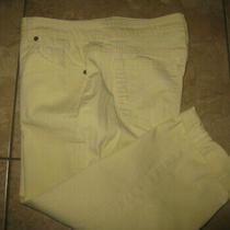 Bandolino Mandie Capri Pants Women's Size 10 Yellow 32'' X 20'' Cuffs Photo