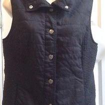 Bandolino Medium Black Quilted Vest Black Womans Photo