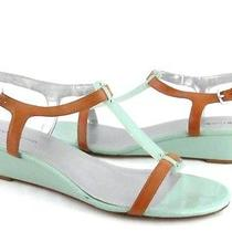 Bandolino Mint and Tan Gladiator Wedge Womens Size 11m New  Photo