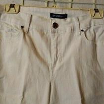 Bandolino Missy Size 8 Stretch White Mandy Jeans Boot Cut Classic 5 Pocket Nwot  Photo