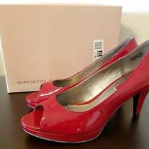 Bandolino Mylah Red Size 7.5 Heel Peep-Toe Pumps   Photo