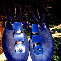 Bandolino Navy Blue Sandals 9m New No Box Photo