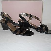 Bandolino New Womens Believe Me Black Wedge Sandals 7.5 M Shoes Photo