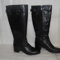 Bandolino New Womens Crittle Black Leather Boots 8.5 M Shoes Nwob Photo