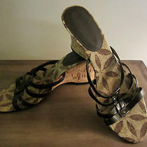 Bandolino Nice Brown Comfy Wedge Sandals in Size 9m Brand New Photo