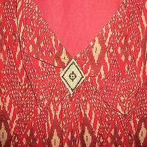 Bandolino  Orange Blouse Euc Size 6 Small Photo