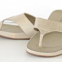 Bandolino Piano Beige Thong Sandals 6m Euc Photo