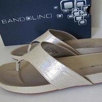Bandolino Piano Flip Flop Sandals Snakeskin Womens 6 M Photo
