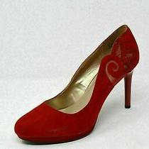 Bandolino Red Fabric Upper Women's Heels Pumps Shoes Sz 10 Photo
