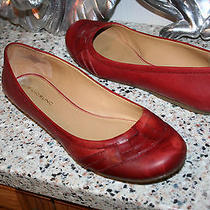 Bandolino Red Leather Comfortable Flats Womens Shoes Size 10 M   Photo